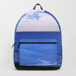 Blue on Blue at the River Mouth Backpack