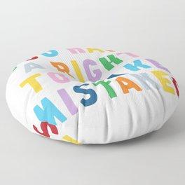 Make Mistakes Floor Pillow