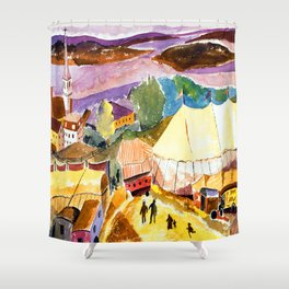 Hugh Collins The Circus Comes to Treport Shower Curtain