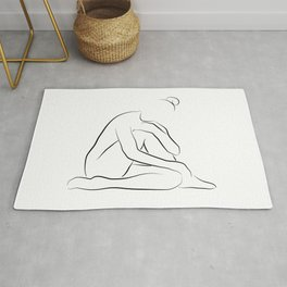 Nude Art Line Drawing - Lovely Layla Rug