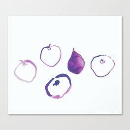 Pomme - Plum Canvas Print