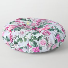 Pink Flamingos Floor Pillow