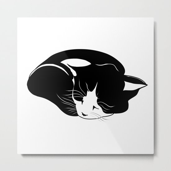 little kitten who sleeps peacefully Metal Print