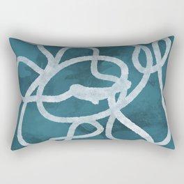 Blue Scribble Rectangular Pillow