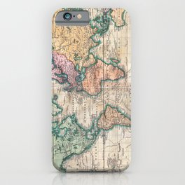 Vintage World Map 1801 iPhone Case