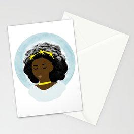 Black Girl Winter Stationery Cards