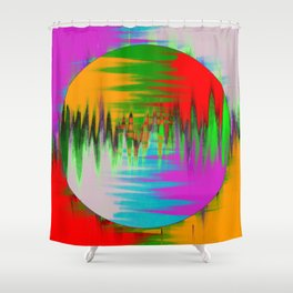 Colour Interference - Abstract colour painting Shower Curtain