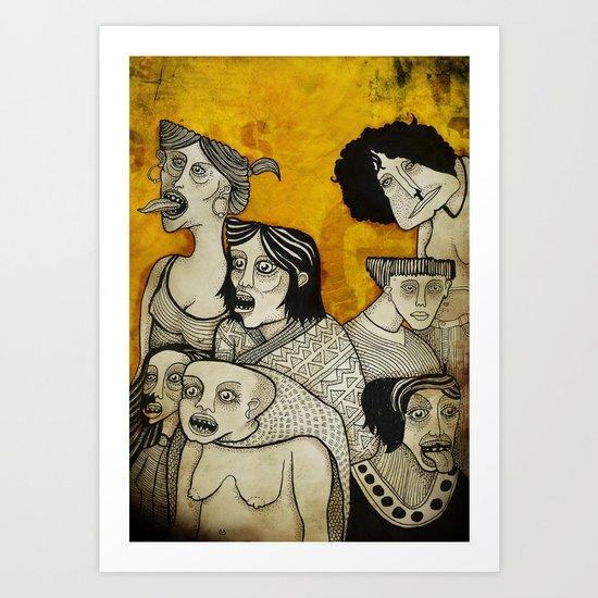 Brujas cara de pizza Art Print