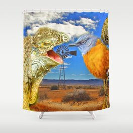 Tourists in Namaqualand Shower Curtain