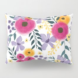 Spring Floral Bouquet Pillow Sham
