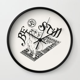 Be Still French Bulldog Wall Clock