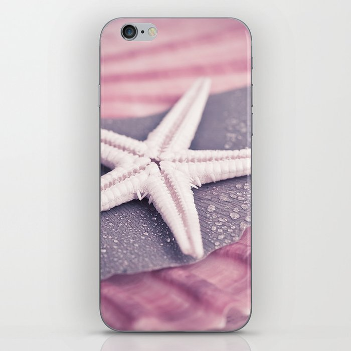 MARITIME STILL LIFE with sea shell and starfish iPhone Skin