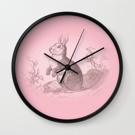 Bunny Rabbit {soft pink} Wall Clock