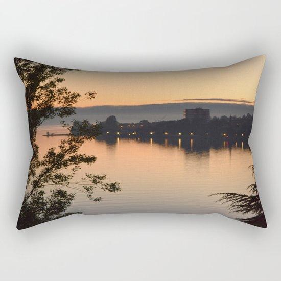 Sunset on the lake Rectangular Pillow