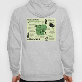 Arkansas National Parks Infographic Map Hoody