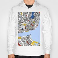 mondrian Hoodies featuring Lisbon mondrian by Mondrian Maps