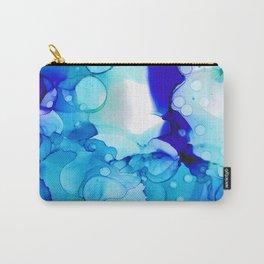 Blue Aqua Carry-All Pouch