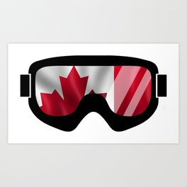 Canadian Goggles | Goggle Art Design | DopeyArt Art Print