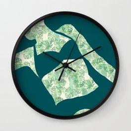 Back to Nature (Reclining Bather Watercolour Jungle) Wall Clock