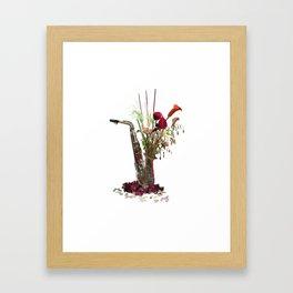 Molde Sax Fireworks Framed Art Print