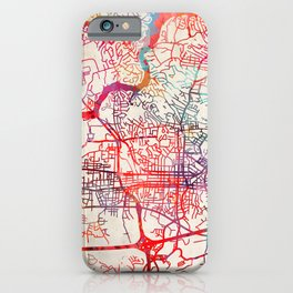 Hickory map North Carolina NC iPhone Case