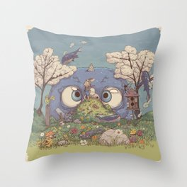 Feeling the Day Throw Pillow