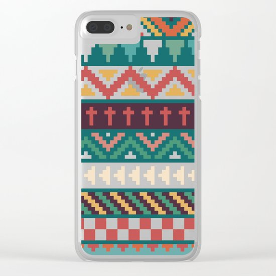 Southwestern Pattern Clear iPhone Case