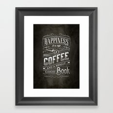 Coffee - Typography Framed Art Print