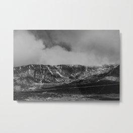 Snow at Serra da Estrela, Portugal Metal Print