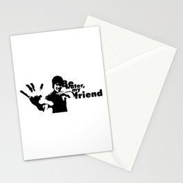Be Water My Friend, Kung Fu Dragon Master Jet Kune Do Fighter Unique Artwork Stationery Cards
