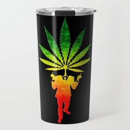 Rasta Human Weed Travel Mug