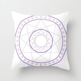 Anime Magic Circle 8 Throw Pillow