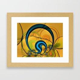 Golden Textured Circlet Framed Art Print