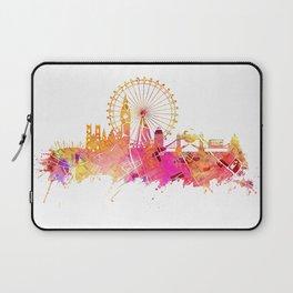 London skyline map city pink Laptop Sleeve