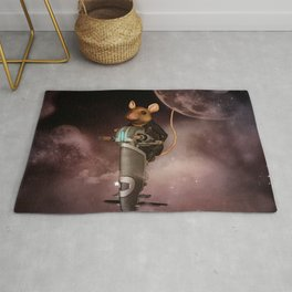 Funny mouse in the universe Rug