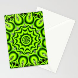 Spring Garden Mandala, Abstract Star Burst Delightful Spirals Stationery Cards