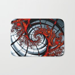 Fractal Art - Burning Web Bath Mat