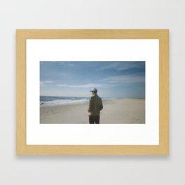 Fall Beach Framed Art Print