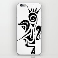 crown iPhone & iPod Skins featuring Crown by Dror Designs