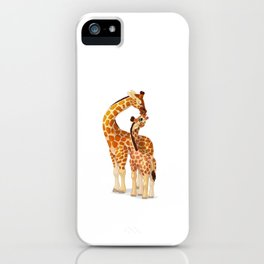 Mother and child giraffes iPhone Case