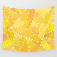 sunshine Wall Tapestries featuring Sunshine by Elisabeth Fredriksson