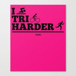 Sport Triathlon training winner fun Canvas Print