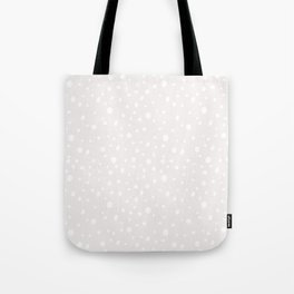 Modern hand painted mauve pink white polka dots Tote Bag