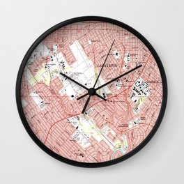 Lafayette Louisiana Map (1983) Wall Clock