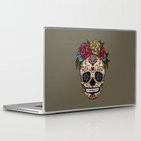 "sugar skull Laptop & iPad Skins featuring ""SUGAR SKULL"" by Magdalena Sky - The Moth"