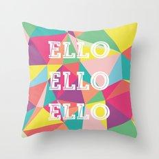 Happy Geometric Throw Pillow