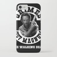 rick grimes iPhone & iPod Cases featuring Rick Grimes & .357 Magnum by SwanniePhotoArt