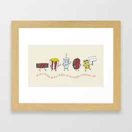 Let's All Go to the Lobby! Framed Art Print