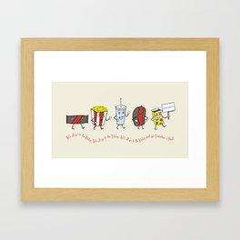 Let's All Go to the Lobby! Framed Art Print