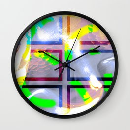 Collage with wavy effect Wall Clock